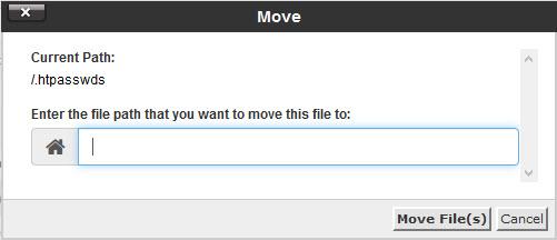 انتقال فایل یا پوشه در سی پنل
