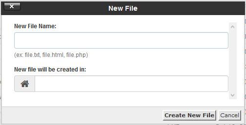 ایجاد یک فایل یا پوشه جدید در سی پنل