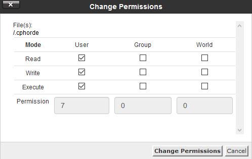 تغییر مجوز فایل یل پوشه ها در سی پنل
