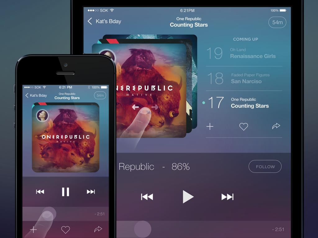 طراحی اپلیکیشن سایت موزیک