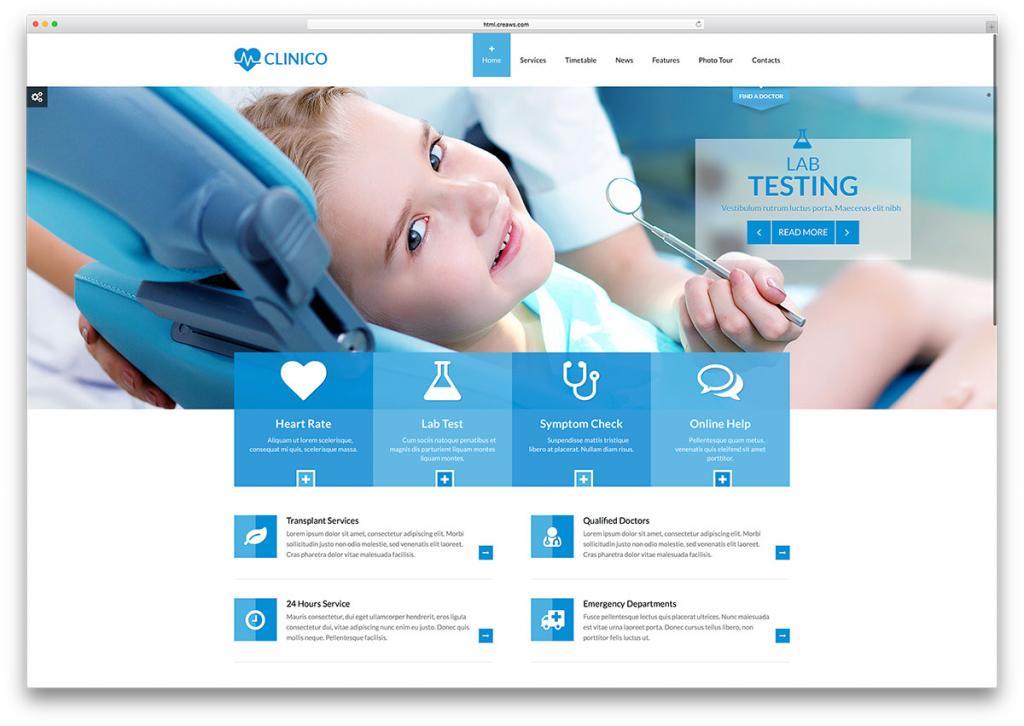 طراحی وب سایت پزشکان