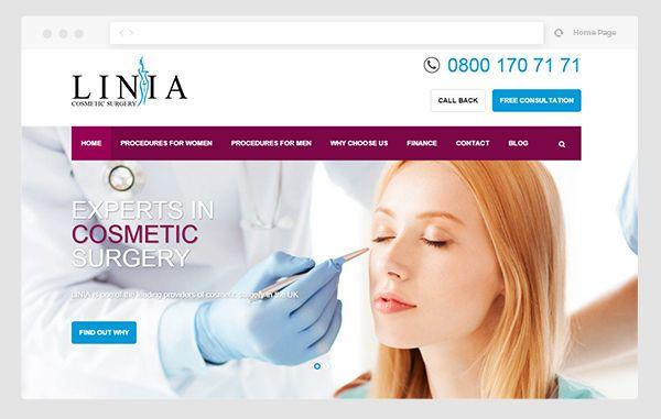 طراحی وب سایت جراحی زیبایی