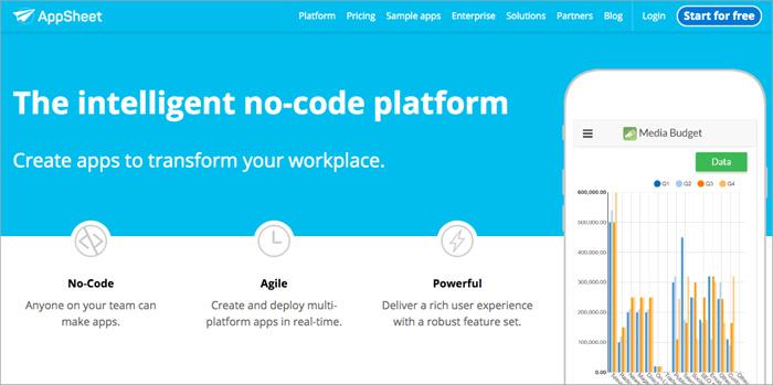 برنامه طراحی اپلیکیشن AppSheet